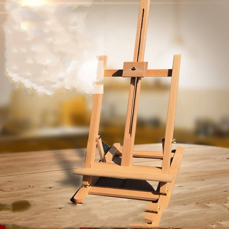 Yellow pine Wooden art Table Easel