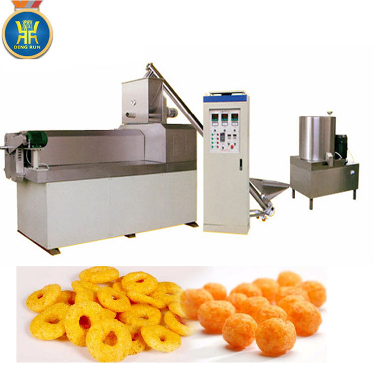 small puff corn snacks making extruder machines puff rice processing line