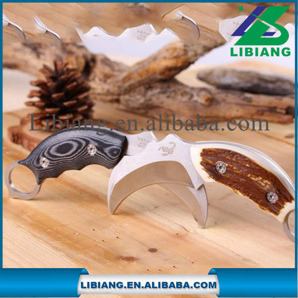 Outdoor Survival Knife Stainless Steel Saber Gun Knife