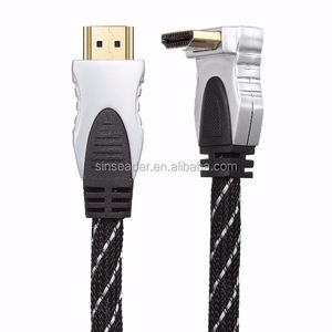 One Right angle Aluminum shell support 3D 4K male to male HDMI cable