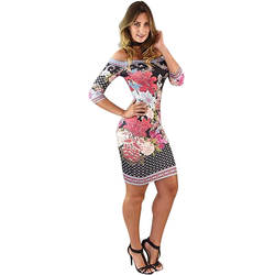 High Quality Women DressSlash Neck Printed Mini Dress