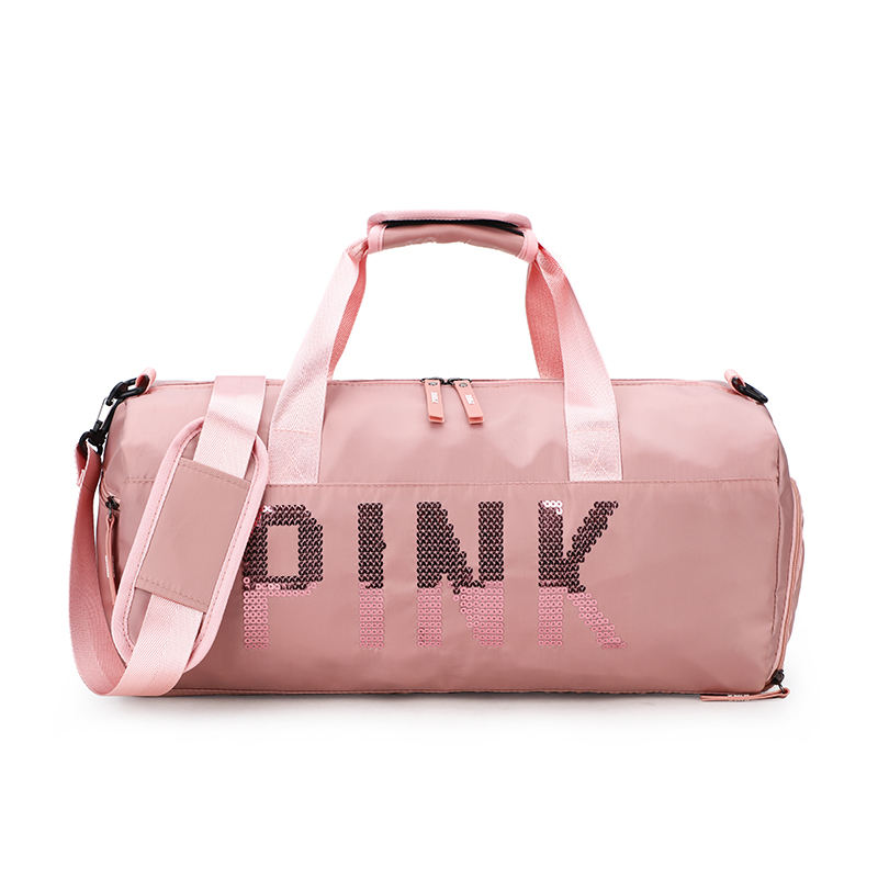 2020 pink gym foldable duffle bag travel bag for women