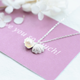 925 sterling silver Korean grace and temperament shell and pearl pendant necklace women