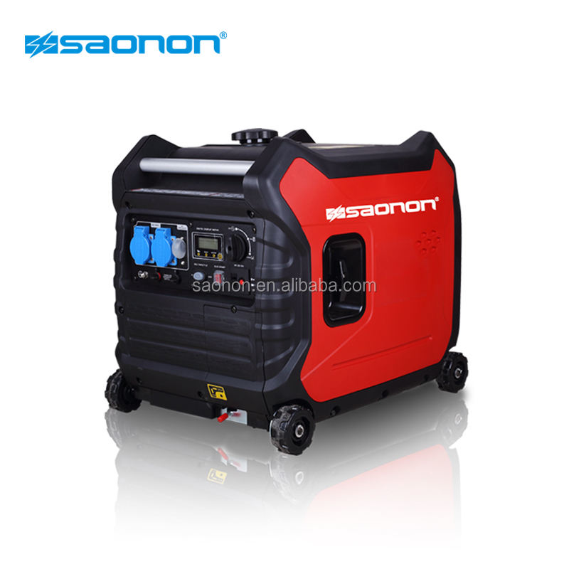 Hot sale power supply 3.5kVA inverter gasoline generators with wheels and handel
