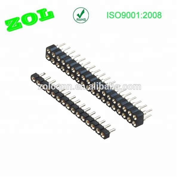 2.54 mm female ronde pin ic socket connector kunststof hinght 3.0mm