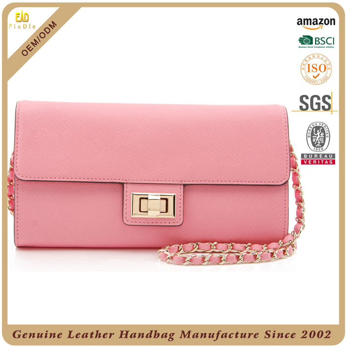 Stylist tool Designer womens cute pink purses leather small handbags branded lady bags and purse