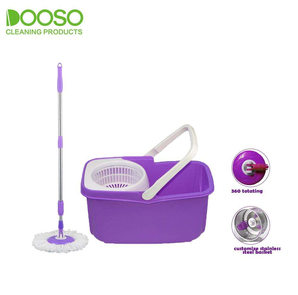 factory supply home cleaning steel handle spin roto mop