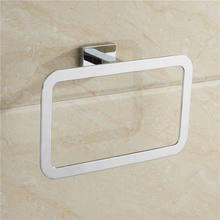 hot sale China Supplier New Design Square Collection Wall Mounted Brass Towel Ring Chrome Finished