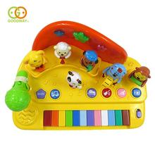 Educational 12keys musical toy baby electric organ piano with flash light