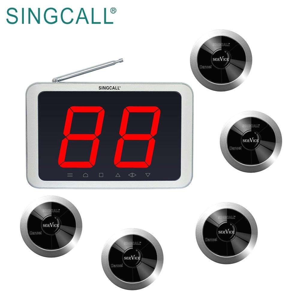 SINGCALL hot sale products in 2017 restaurant waiter call devices table call paging system