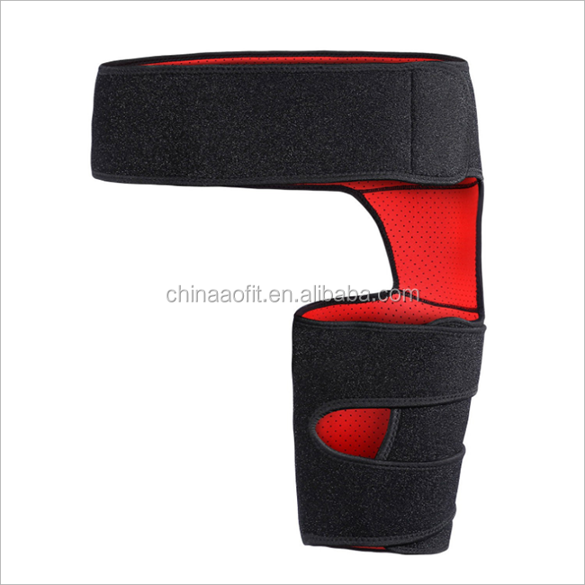Neoprene Silicone Thigh Pad Groin Guard thigh compression wrap integrated gym trainer