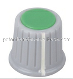 plastic cap knobs in different colors for 6mm D type shaft
