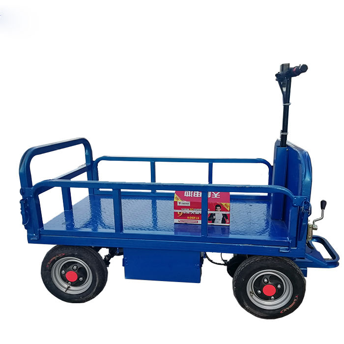 Industrial goods carry electric trolley and push cart for sale