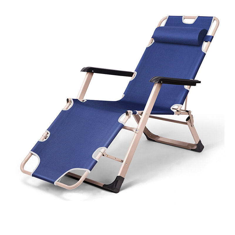Steel Balanced lounge folding chair Outdoor Furniture reclining chair easy carrying sun beach lounger Zero Gravity Chairs