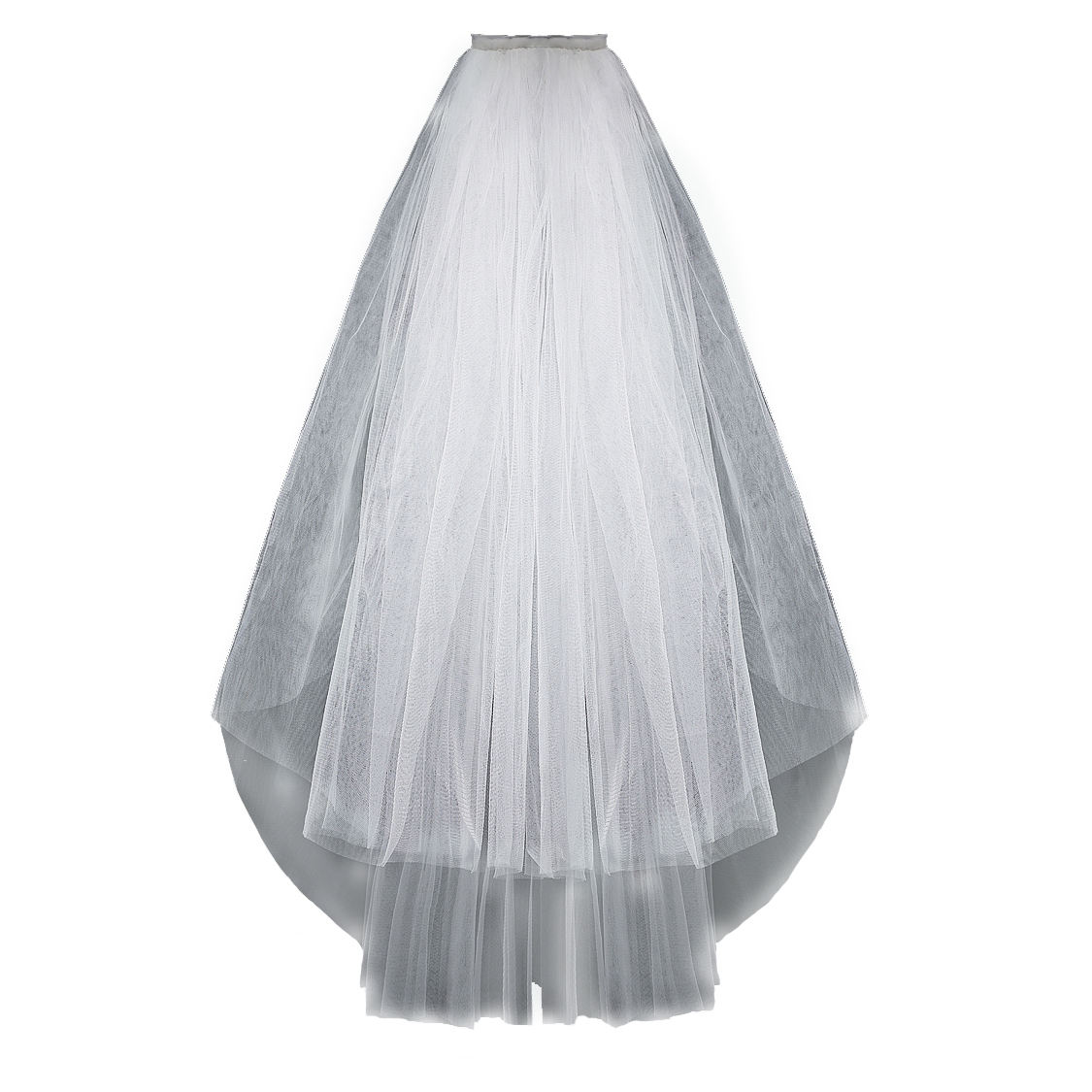 Classic White Birdcage Veil Face Short Wedding Bridal fluffy romantic Veils with Comb