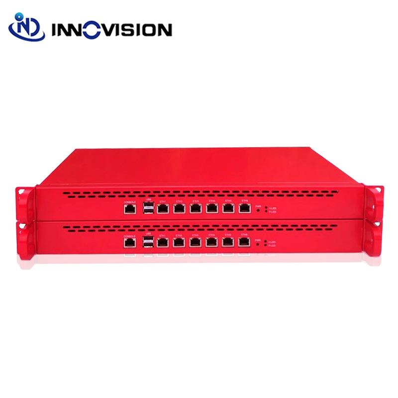 Enterprise cremagliera 1U Router Morbido/Firewall/VOIP /Netwotk di Sicurezza Server con 6gigabit ethernet i7 processore