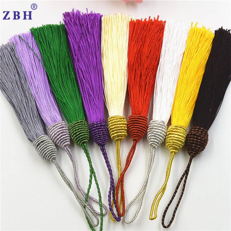 15cm colorful long tassels for clothing/tassels for dresses
