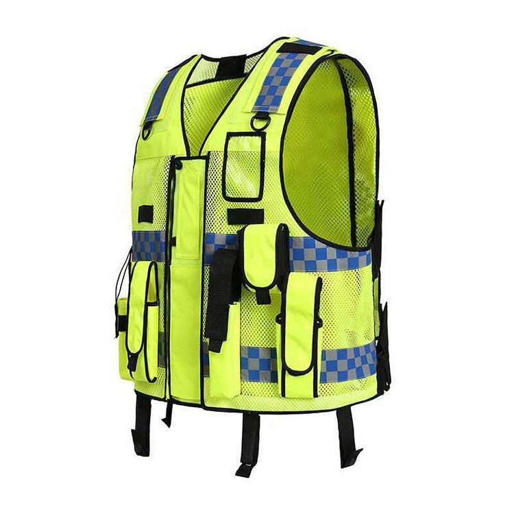With Reflective Strips visibility yellow reflective safety vest