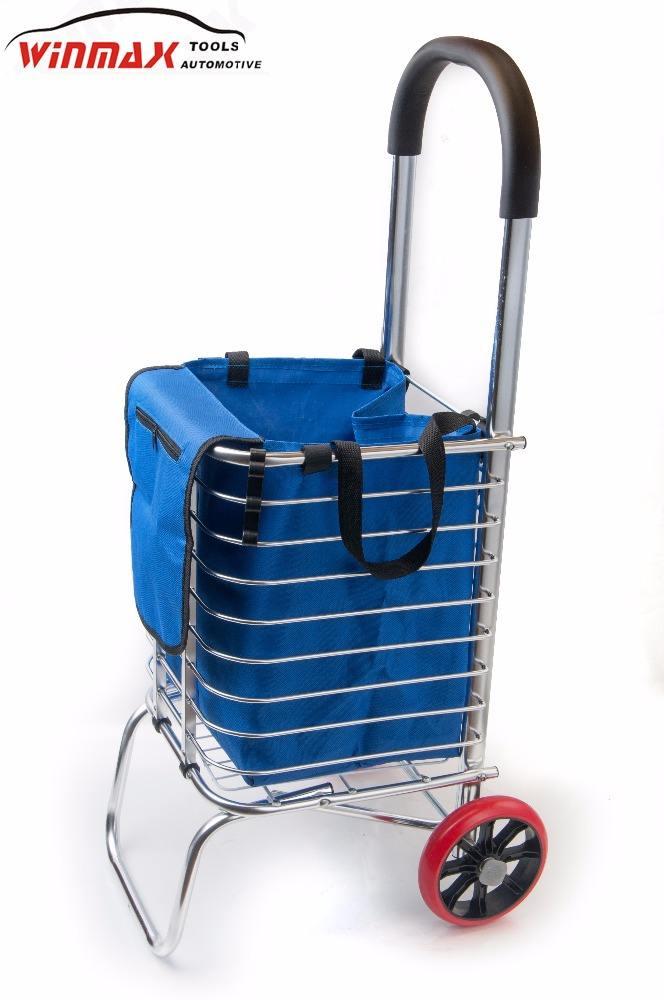 휴대용 ALU. 접이식 쇼핑 카트 고무 바퀴
