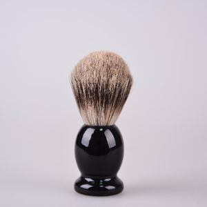 Perfecto 100% Pure Badger Shaving Brush With Black Handle-Engineered to deliver the Best Shave of Your Life!!!