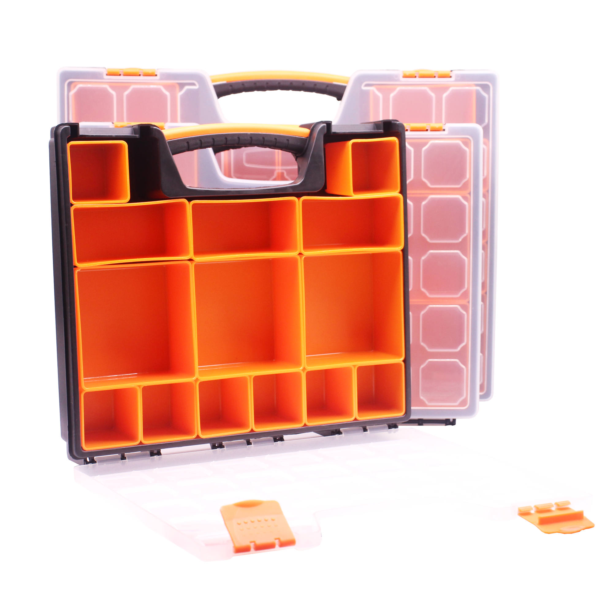 Small Parts Organizer 5 Compartments Storage Bins Tool Storage Plastic Case