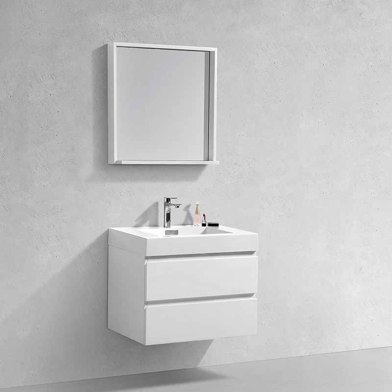 Modern 30 Inch Luxury Wall Mounted Hotel White Liquidation Bathroom Vanity