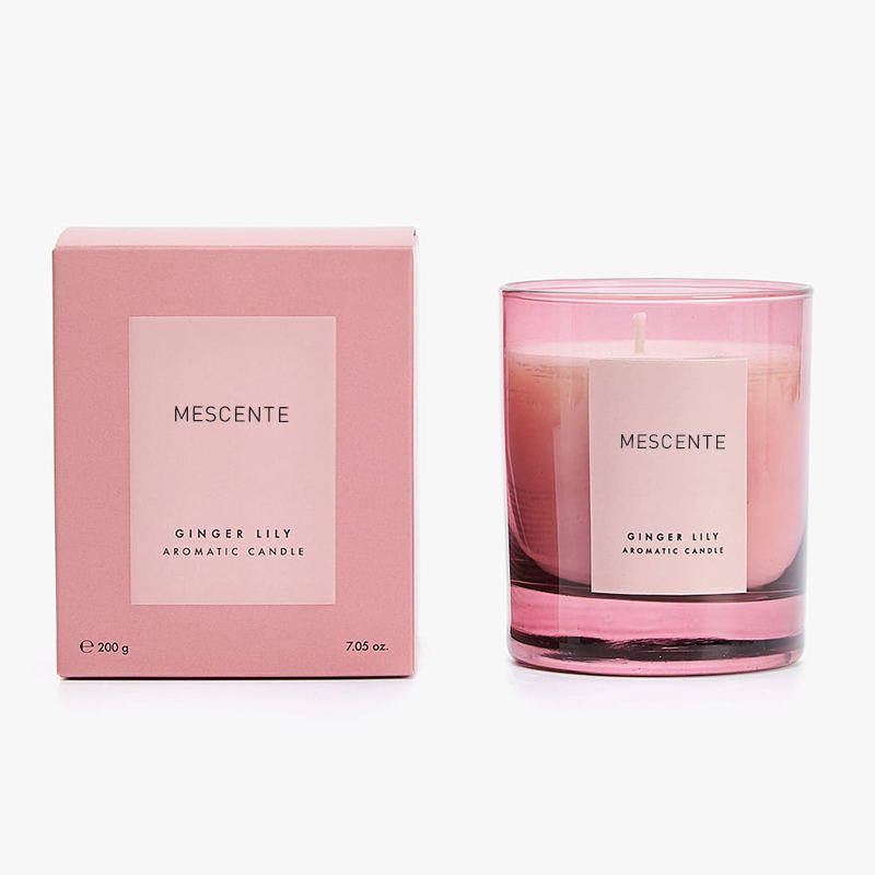 Mescente wholesale luxury custom logo pillar aromatherapy scented soy candles in bulk