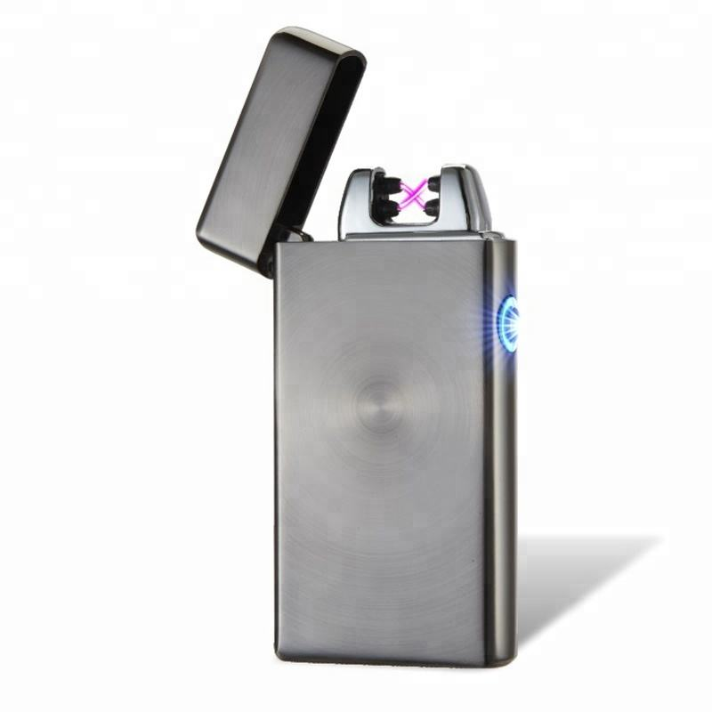 2018 Amazon top seller smoking accessories usb double Arc Plasma LIGHTER