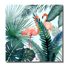 New Products Flamingo Printed Art Stretched Home Decoration Crafts
