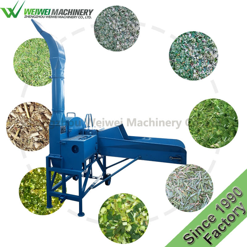 Weiwei machinery hand feed machine chaff cutter for sale green fodder feeding