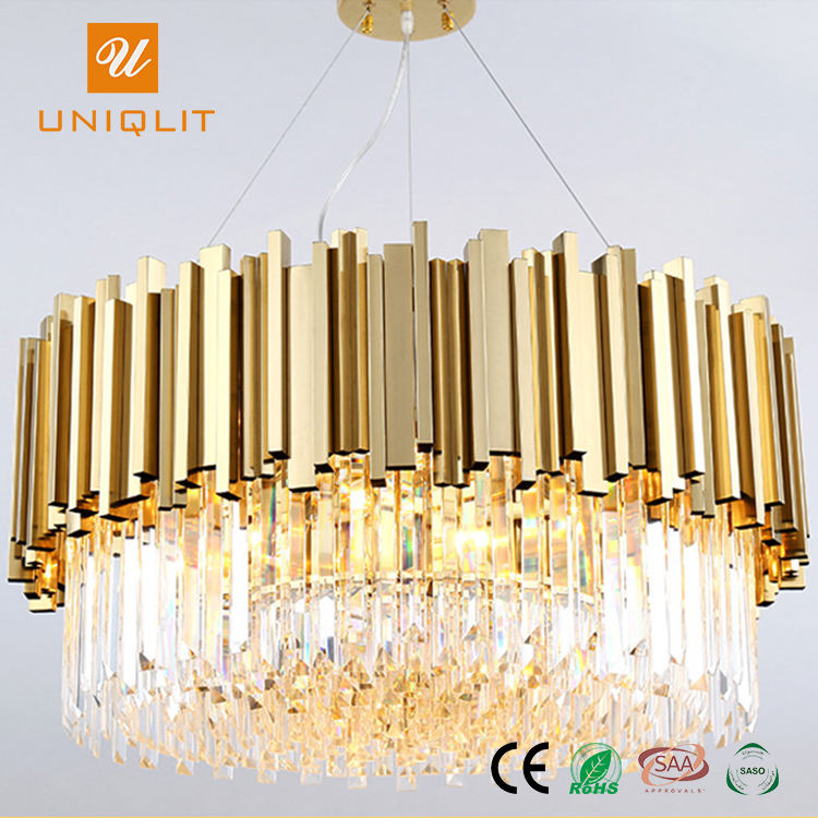 Hotsell Project Decorative Lights Golden Chandelier Crystal Light Pendant Lamp
