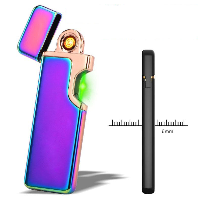 JL-807Jinlun electric plasma lighter usb charged double X arc pulse lighter windproof rechargeable lighter