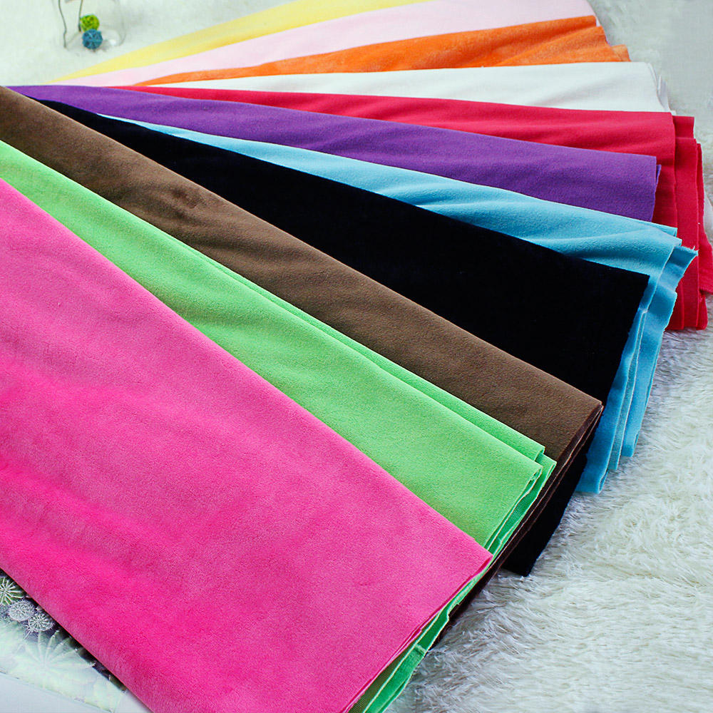 Short plush fabric soft fabric in autumn and winter pure color fabric factory wholesale HT-PSVDF-A