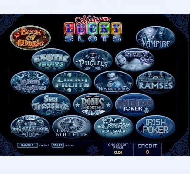 Multigame Lucky Slots 16 in 1 Slot Game Board