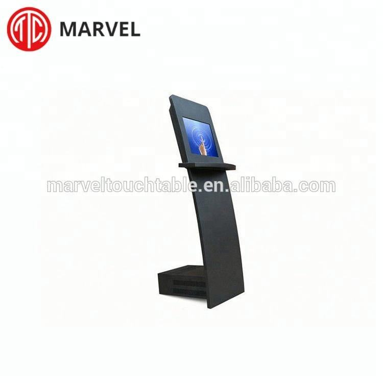 High quality standalone metal case interactive touch screen information kiosk cabinet
