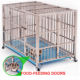 wholesale heavy duty stainless steel dog cage , large double foldable dog cage