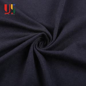 Black cotton bamboo soccer single jersey fabric material for sportswear