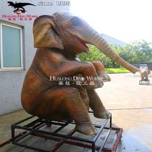 High Quality 3D Realistic Artificial Animatronic Elephant