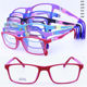 Wholesale 1090 TR90 materials 180 degrees flexible spring hinge rectangle shape dual solid colors optical glasses frame for kids