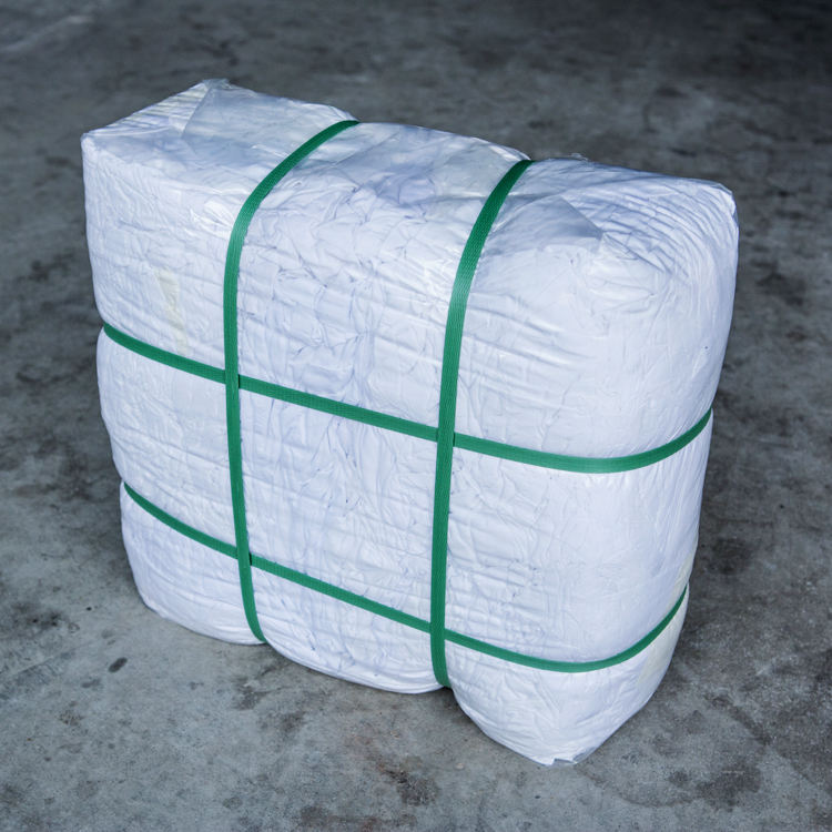 Factory Supplying New Industrial Cotton Doo Wiper Rags in White Color