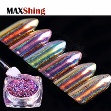 Multicolor holographic foil holo galaxy flakes chrome laser foils for nails