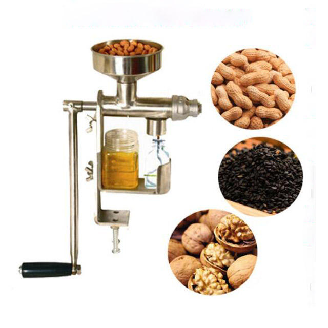 Stainless Steel Press Manual Kecil Bunga Matahari Kacang Wijen Expeller Minyak Mesin