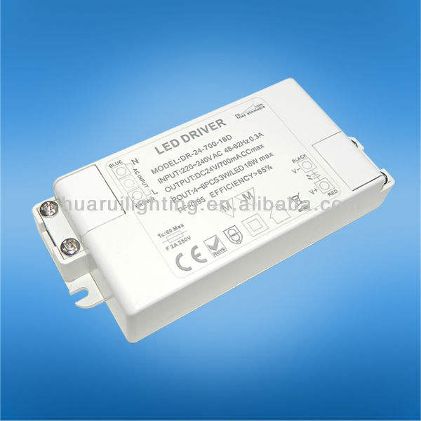 Dim 24 W sabit current700/350mA ve sabit voltaj 12/24 V led AC DC adaptörü