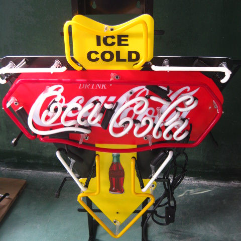 ice cold neon display sign for pop market