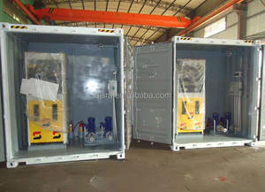 mobile container petrol fuel filling station