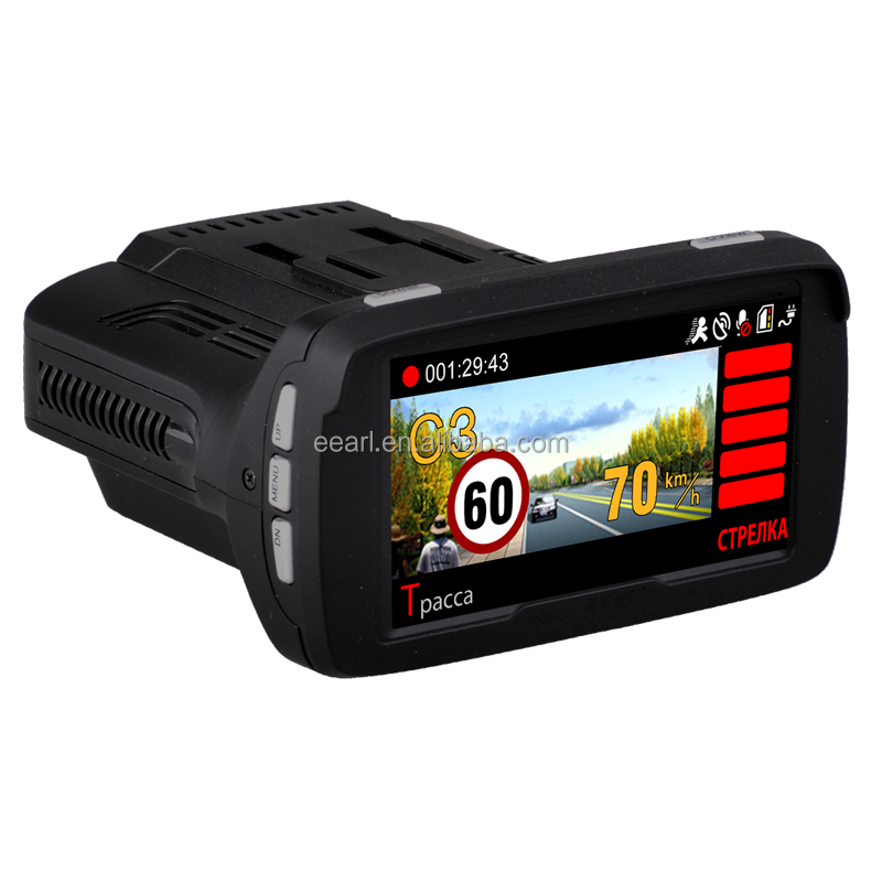 2.7 inch 3 in 1 Combo Radar Detector Car Dash Cam Ambarella Car DVR Anti Radar with GPS Tracker