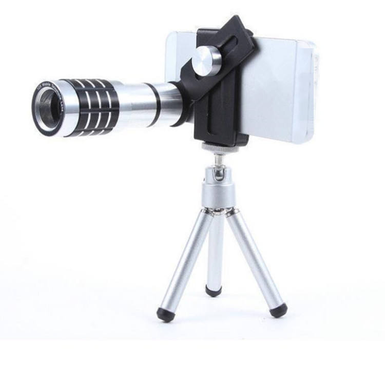 Hot Selling 12X Zoom Mobile Camera Lens Portable Cell Phone Camera Lens With Holder