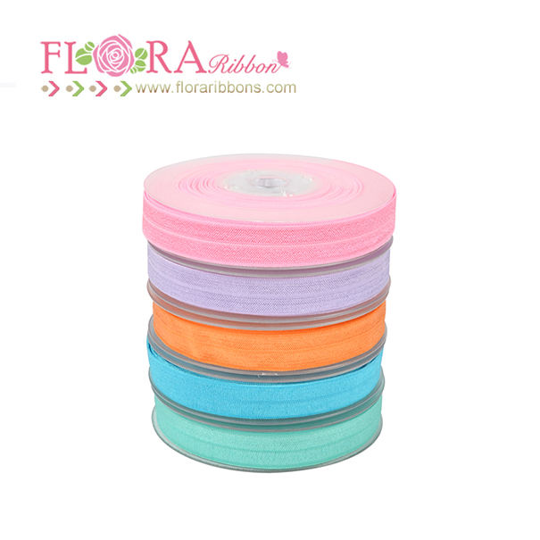 High quality nylon solid fold over elastic for garment and shoes