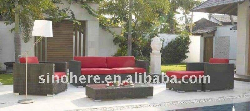 European Style Rattan Garden Fabric Sofa Sets AK1271