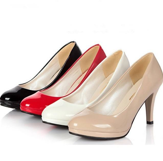 UP-0123J new model all match high heels office lady leather shoes